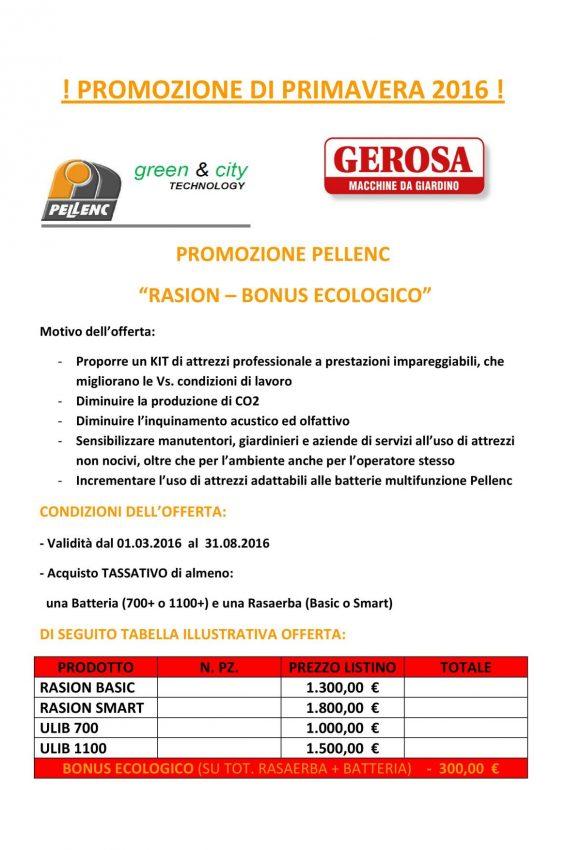 Gerosa Antonio Promozione Pellenc 2016